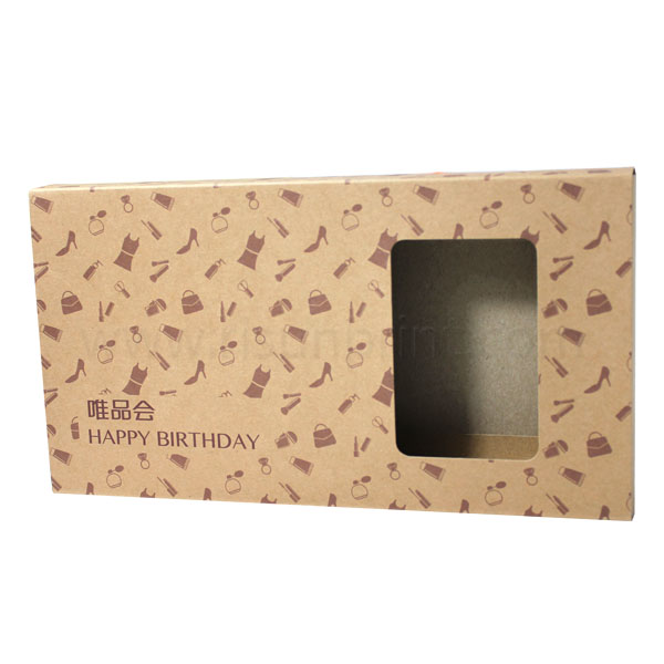 Kraft Paper Packaging Box For Birthday Gift
