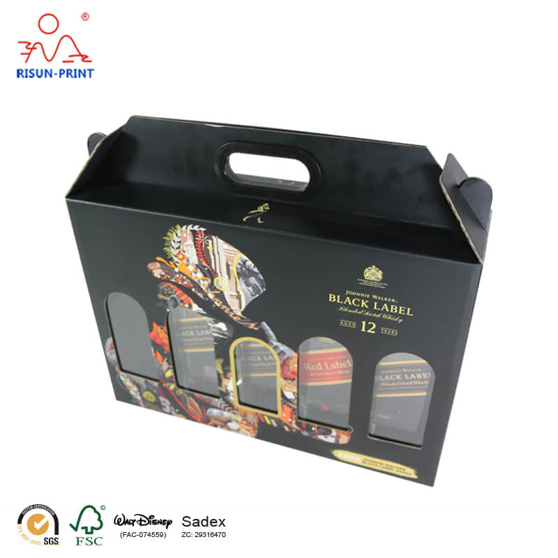 5 Bottle Wine Box