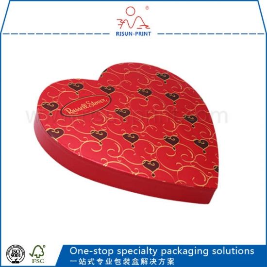 heart shaped paper chocolate packaging christmas gift boxes with lids - Christmas Gift Boxes Wholesale