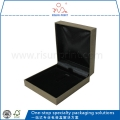 Plastic Material Paper Outer Decoration Black Inner Velvet Necklace Boxes For Sale