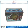 Santa Gift Boxes Foldable Foil Stamping Paper Packaging Boxes