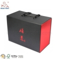 Black And Red Color Foldable Delivery Box Folding Packaging Box