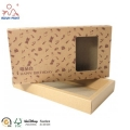 Kraft Material Drawer Box With Image Printing Kraft Paper Packaging Box For Gift