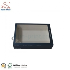 Card Paper Packaging Boxes Custom Logo PVC Clearly Window Clothing Boxes- Risun-print