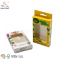 CMYK Printed Paper Storage Box PVC Cover Window
