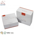 grey board material and art paper printing custom demand boxes with stamping logo