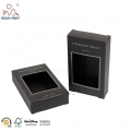 All Black Paper Box With Clear Window