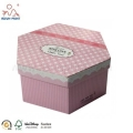 Pink Color Printed CMYK Image Large Gift Boxes With Lids