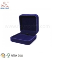 Sapphire Blue Color High Quality Velvet Gift Boxes For Jewelry
