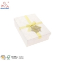 Custom cardboard luxury paper packaging gift box with bow